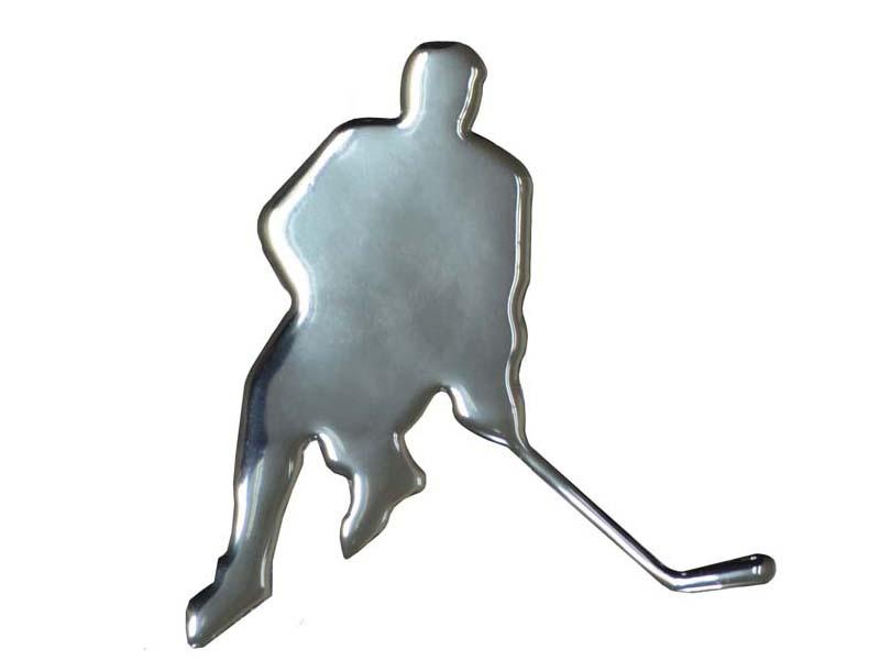 Наклейка хоккеист на стекло автомобиля.