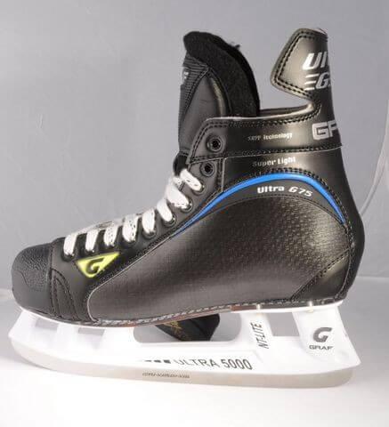 Коньки хоккейные GRAF ULTRA G 75 Allblack ULTRA Lite Cobra 5000